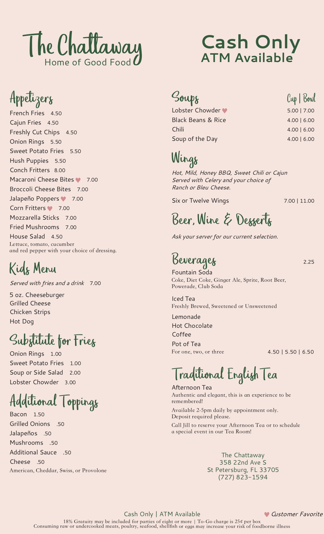 Chattaway menu 7-20 pg.2